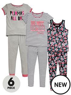 freespirit-girls-floral-pyjama-set-6-piece