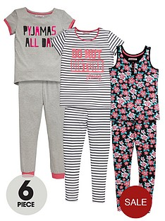 freespirit-girls-floral-pyjama-set-6-piece
