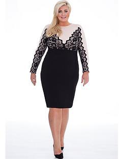 gemma-collins-lace-bodycon-dress