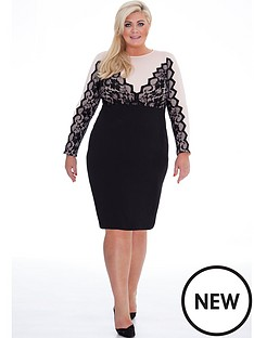 gemma-collins-lace-bodycon-dress