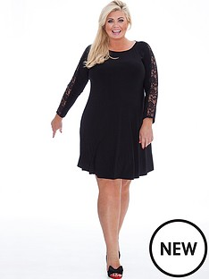 gemma-collins-gemma-collins-lace-swing-sleeve-dress