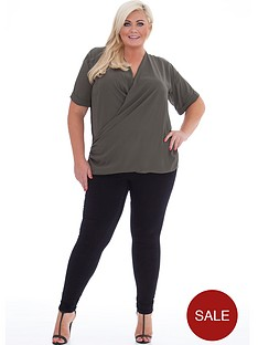 gemma-collins-wrap-over-blouse