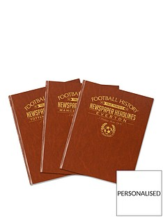 a4-football-newspaper-book-brown-leatherette-colour-pages-embossing