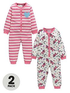 ladybird-girls-unicorn-and-stripe-sleepsuitsnbsp2-pack-12-months-7-years