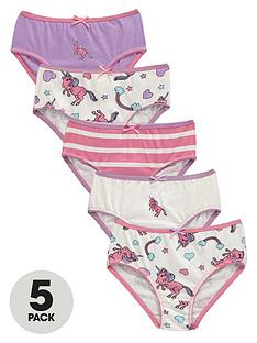 ladybird-girls-unicorn-knickers-5-pack