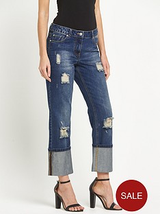 south-blake-ripped-and-distressed-turn-up-boyfriend-jeansnbsp