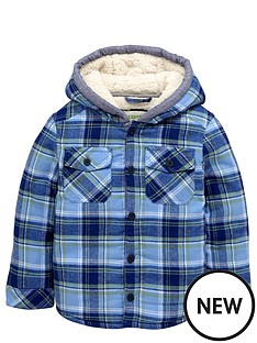 ladybird-boys-borg-lined-hooded-check-shirt