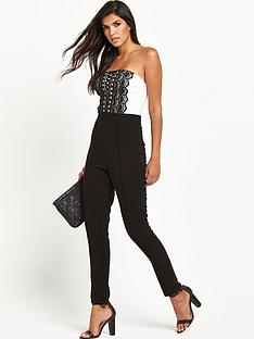 lipsy-mono-lace-up-front-jumpsuit