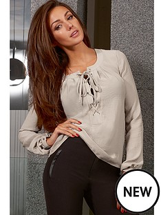 lipsy-tie-neck-satin-blouse