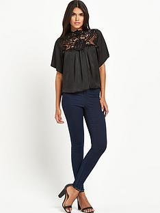 lipsy-contrast-trim-top