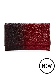 oversized-ombre-glitter-clutch-bag-red