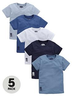 ladybird-boys-skull-t-shirts-5-pack-12-months-7-years