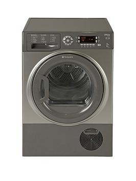 hotpoint-ultima-sutcd97b6gm-9kg-condenser-dryer-graphite