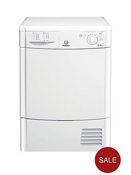 indesit-ecotime-idc8t3b-8kgnbspload-condenser-tumble-dryer-white