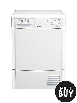 indesit-idc8t3b-8kg-load-condenser-dryer-white