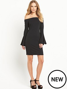 v-by-very-fluted-sleeve-pencil-dress