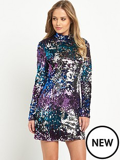 v-by-very-high-neck-sequin-bodycon-dress