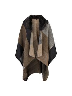 lipsy-cape-with-faux-fur-collar-multi