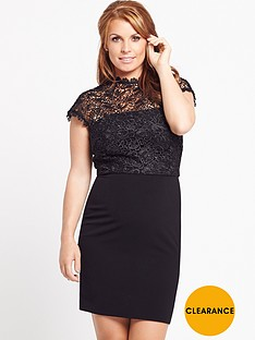 coleen-lace-top-skater-dress