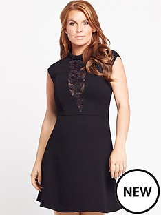 coleen-lace-insert-embellished-neck-dress
