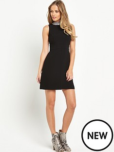 v-by-very-embellished-collar-high-neck-a-line-dress