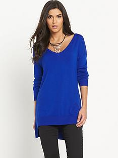 south-v-neck-side-split-jumpernbsp