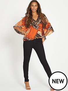 rochelle-humes-rochelle-tile-print-batwing-top