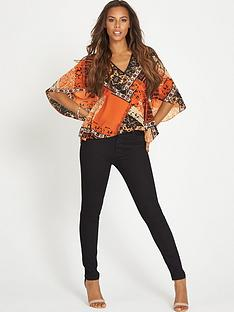 rochelle-humes-tile-print-batwing-top