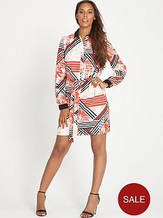 rochelle-humes-printed-shirt-dress