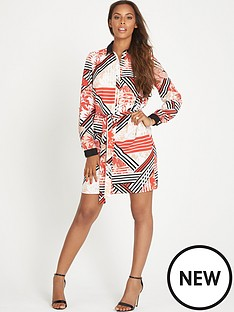 rochelle-humes-rochelle-printed-shirt-dress