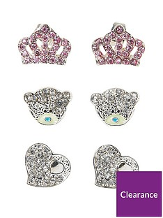 me-to-you-me-to-you-tatty-teddy-silver-plated-trio-earring-set