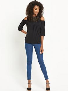 south-cold-shoulder-lace-topnbsp