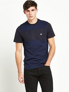 fred-perry-textured-mixed-fabric-mens-t-shirt