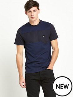 fred-perry-textured-mixed-fabricnbspt-shirt
