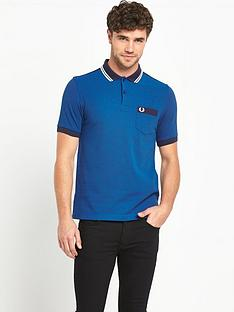 fred-perry-gingham-trimnbspmens-polo-shirt