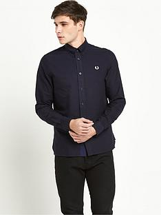 fred-perry-gingham-trim-long-sleeve-mens-oxford-shirt