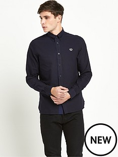 fred-perry-gingham-trim-long-sleevenbspoxford-shirt