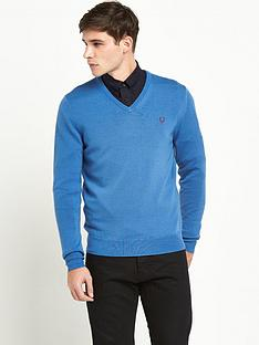 fred-perry-classic-tipped-mens-v-neck-jumper