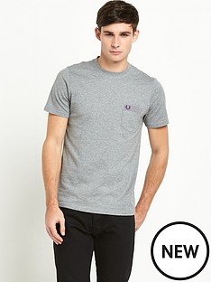 fred-perry-gingham-trim-polka-dot-t-shirt