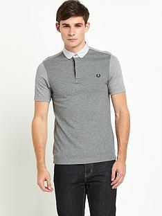 fred-perry-textured-mixed-fabric-polo
