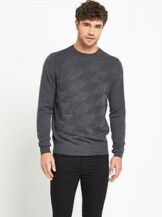 fred-perry-argyle-crew-neck-mens-jumper