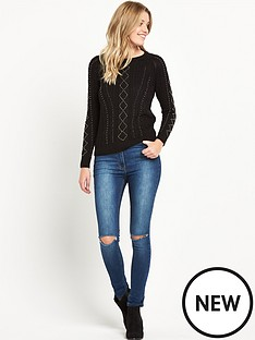 v-by-very-beaded-cable-jumper