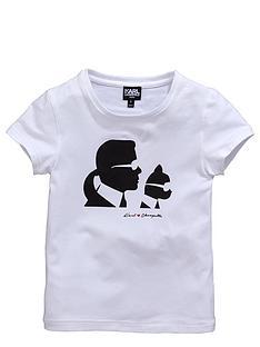 karl-lagerfeld-girls-karl-and-choupettenbspsilhouette-t-shirt