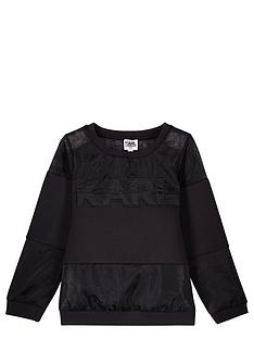 karl-lagerfeld-girls-neoprene-organza-sweat-top