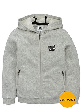 karl-lagerfeld-girls-choupettenbspzip-through-hoodie