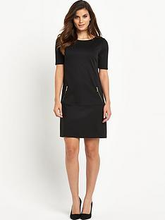 wallis-zip-pocket-ponte-dress