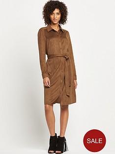 wallis-suede-shirt-dress