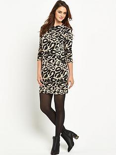 wallis-wallis-animal-jacquard-dress