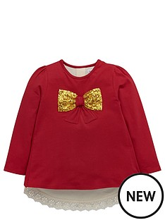 ladybird-girls-sequin-bow-and-broderie-sweater-12-months-7-years