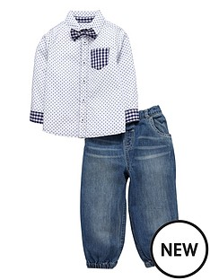 ladybird-baby-boys-shirt-jeans-and-bow-tie-set-3-piece